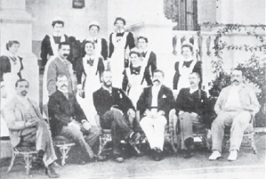 2. The Staff from the Charters Towers Hospital, Queensland. Francis Hare is seated far left.